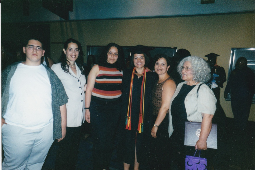 With my family at my college graduation