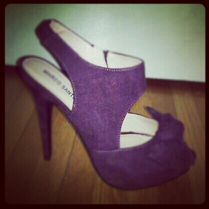 purple stilletos