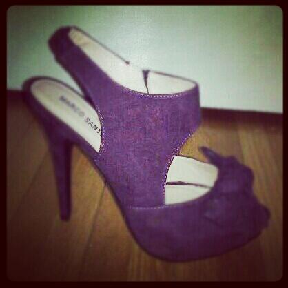 purple stilletos